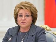 俄罗斯联邦委员会主席即将对越南进行正式访问