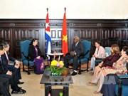 越南与古巴决心进一步加强两国国会之间的关系