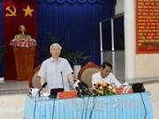 阮富仲总书记:金瓯省应进一步发展海洋经济和林业经济
