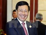 越南政府副总理兼外长范平明会见菲律宾外长佩费克托·雅赛