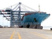 越南国际盖梅海港迎接有史以来最大集装箱船