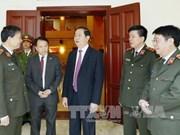 越南国家主席陈大光:人民公安力量须在党建工作中达成共识