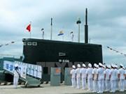 """阮春福总理出席""""186-岘港""""号和""""187-巴地头顿""""号潜艇升旗仪式"""