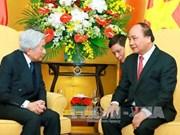 越南政府总理阮春福与夫人会见日本天皇和皇后