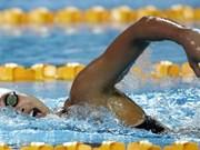 阮氏映圆在美国游泳赛400米自由泳决赛中排名第8