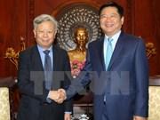 胡志明市委书记丁罗升会见亚洲基础设施投资银行行长