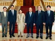 越南政府总理阮春福会见联合国各位副秘书长