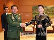 国会主席阮氏金银会见缅甸国防军总司令敏昂莱