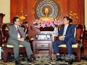 胡志明市委书记丁罗升会见日本新任驻胡志明市总领事川上纯一