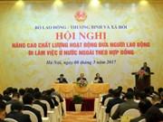 着力提高越南对外输出劳务素质