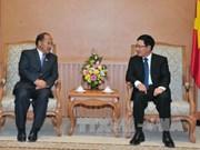 政府副总理兼外长范平明会见尼泊尔商业部部长罗米·塔卡里