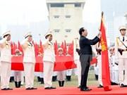 国家主席陈大光出席第一特种警察营成立20周年纪念典礼