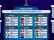 2017年韩国U20世界杯抽签结果:越南队将对阵法国、洪都拉斯、新西兰队