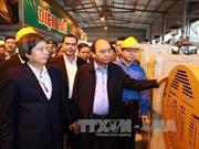 阮春福总理来到河南省考察越南自主开发的废物再生能源(WTE)项目