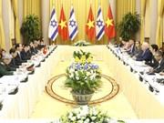 越南国家主席陈大光与以色列总统鲁文•里夫林举行会谈