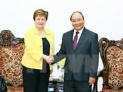 阮春福总理会见世行首席执行官格奥尔基耶娃