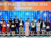 "Viettel荣获""2016年越南最佳工作地方""的荣誉称号"