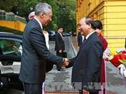 越新两国发表联合声明  强调和平解决各争端的重要性