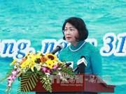越南国家副主席邓氏玉盛出席2017年出海谋生节