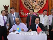 越南前江省与帕劳共和国签署水产领域合作协议