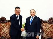 阮春福总理会见泰国暹罗水泥总裁