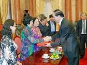 越南国家主席会见T4安全谍报老干部代表团