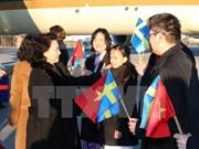 阮氏金银抵达瑞典开始进行正式访问