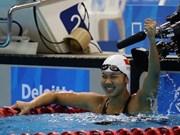 阮氏映圆在美国Speedo Sectionals 2017游泳锦标赛上勇夺两金