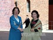 越南国会主席阮氏金银会见瑞典斯德哥尔摩市市长