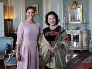 越南国会主席阮氏金银会见瑞典女王储维多利亚▪爱丽丝▪黛西蕾
