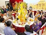 老挝驻越大使馆举行泼水节活动 庆祝老挝传统新年