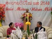 胡志明市领导祝贺老挝传统新年