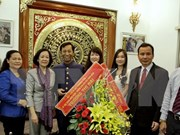 越共中央民运部长张氏梅开展天主教和福音教走访慰问活动