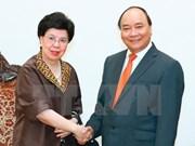越南政府总理阮春福会见世卫组织总干事陈冯富珍
