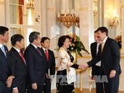 越南国会主席阮氏金银会见匈牙利总统阿戴尔•亚诺什