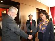 越南国会主席阮氏金银会见匈越友好协会主席