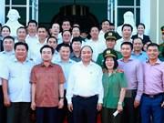 越南政府总理阮春福与富国岛投资商举行工作会谈