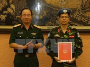 越南继续派遣一名军官参加联合国维和行动