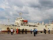 越南西贡新港迎来逾6200吨货轮