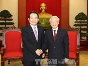 阮富仲总书记会见韩国国会议长丁世均