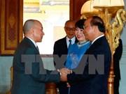 越南政府总理阮春福拜见柬埔寨国王西哈莫尼