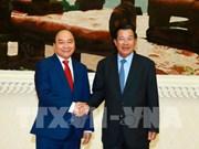 阮春福总理结束对柬埔寨的访问 向柬埔寨首相致感谢电