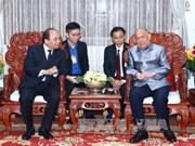 越南政府总理阮春福走访慰问前老挝党和国家领导人