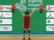 陈黎国全在亚洲举重锦标赛上夺金