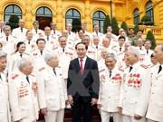 国家主席陈大光会见支援南方战地公安干部代表