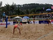 2017年下龙巡州亚洲女子沙滩排球赛正式开赛
