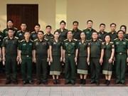 越南国防部为老挝国防部直属单位的工作人员举行培训班
