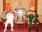越南人民军总政治局主任会见中国人民解放军海军政治委员
