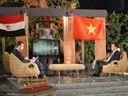 介绍胡志明主席事业生涯和越南风土人情节目在埃及国家电视台直播
