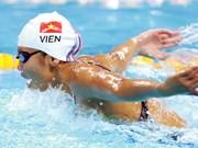 越南游泳女将阮氏映圆在美国游泳系列赛获得两枚银牌